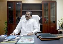 Shripad Naik, ministre indien du Yoga et de la médecine ayurvédique, un poste créé par le Premier ministre Narendra Modi. /Photo prise  le 11 novembre 2014/REUTERS/Anindito Mukherjee