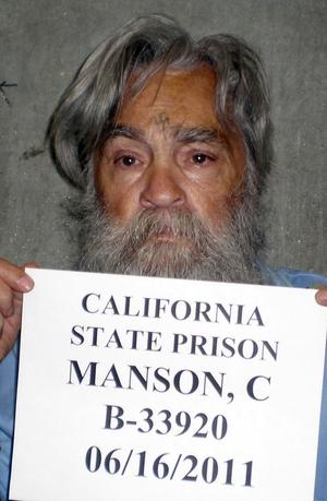 Convicted mass murderer Charles Manson is shown in this handout file picture from the California Department of Corrections and Rehabilitation dated June 16, 2011 and released to Reuters April 8, 2012. REUTERS/CDCR/Handout/Files