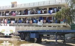 Alojamento de trabalhadores na zona industrial Sanaya, em Doha, no Qatar, em março. 28/03/2014 REUTERS/Stringer