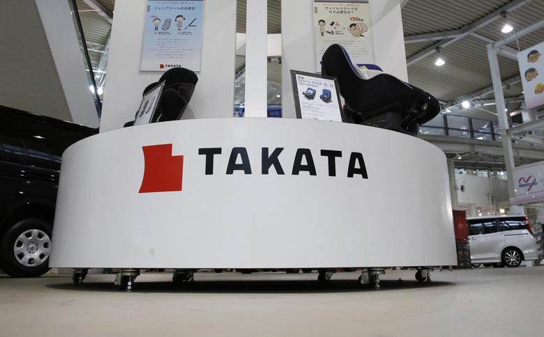 Displays of Takata Corp are pictured at a showroom for vehicles in Tokyo in this file photo taken November 5, 2014.  REUTERS/Toru Hanai/Files