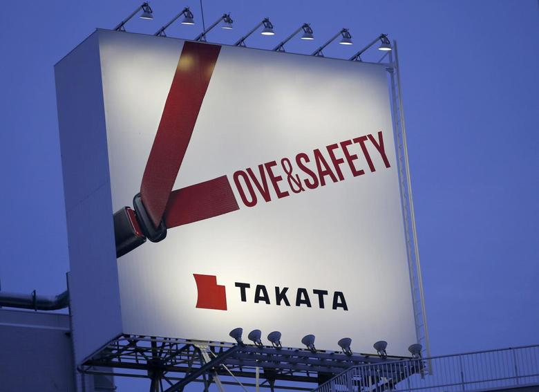 A billboard advertisement of Takata Corp is pictured in Tokyo September 17, 2014.  REUTERS/Toru Hanai