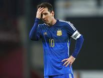 O jogador Lionel Messi, da Argentina, durante amistoso com Croácia, em Londres, na semana passada. 12/11/2014 REUTERS/Eddie Keogh