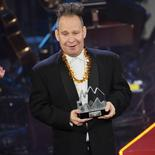 U.S. theatre director Peter Sellars reacts as he receives the Swedish Polar Music Prize at a ceremony in Stockholm August 26, 2014. REUTERS/Jonas Ekstromer/TT News Agency