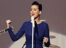 Cantora Katy Perry durante concerto comemorativo na Casa Branca em Washington. 31/07/2014 REUTERS/Yuri Gripas