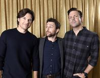 "Cast members Jason Bateman (L), Charlie Day (C) and Jason Sudeikis of the film "" Horrible Bosses 2"" pose for a portrait during a photo call in Beverly Hills, California November 10, 2014. REUTERS/Kevork Djansezian"