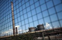 Vista da usina siderúrgica da Ilva em Taranto. 04/08/2012 REUTERS/Yara Nardi