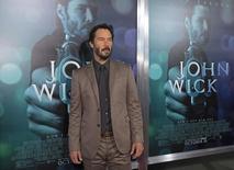 """Ator Keanu Reeves em evento do filme """"De Volta ao Jogo"""" em 24 de outubro.  REUTERS/Mario Anzuoni"""