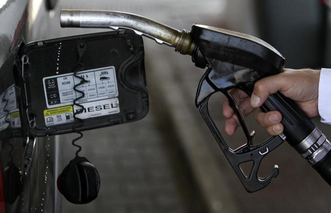 A customer uses the nozzle of a petrol pump at a gas station near Prague August 23, 2012.  REUTERS/David W Cerny
