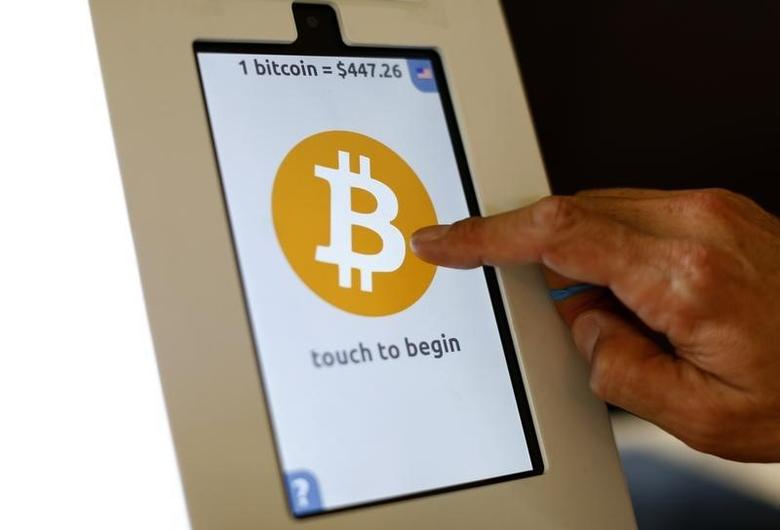 A bitcoin ATM machine is shown at a restaurant in San Diego, California September 18, 2014. REUTERS/Mike Blake