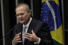 O presidente do Congresso Nacional, senador Renan Calheiros, em Brasília. 01/02/2013 REUTERS/Ueslei Marcelino