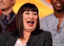 """Actress Anjelica Huston takes part in a panel discussion of NBC Universal's series """"Smash"""" during the 2013 Winter Press Tour for the Television Critics Association in Pasadena, California in this file photo from January 6, 2013. REUTERS/Gus Ruelas/Files"""