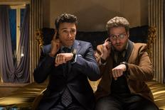 Dave, played by James Franco, and Aaron, played by Seth Rogen, in Columbia Pictures' The Interview. REUTERS/CTMG, Inc.