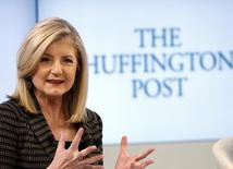 Arianna Huffington, president and Editor-in-Chief of The Huffington Post Media Group attends a session at the World Economic Forum (WEF) in Davos January 25, 2014. REUTERS/Denis Balibouse