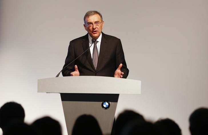 Norbert Reithofer, Chairman of the Board of Management of BMW, speaks during an event to unveil the new X4 at the BMW manufacturing plant in Spartanburg, South Carolina March 28, 2014. REUTERS/Chris Keane