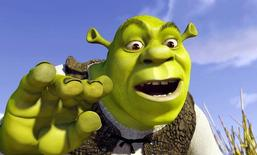 "Shrek, with the voice of actor [Mike Myers], from a scene in the animated film ""Shrek"", which is presented at the 54th International Cannes Film Festival, May 12, 2001.  (Credit : DreamWorks Pictures - MANDATORY CREDIT)"