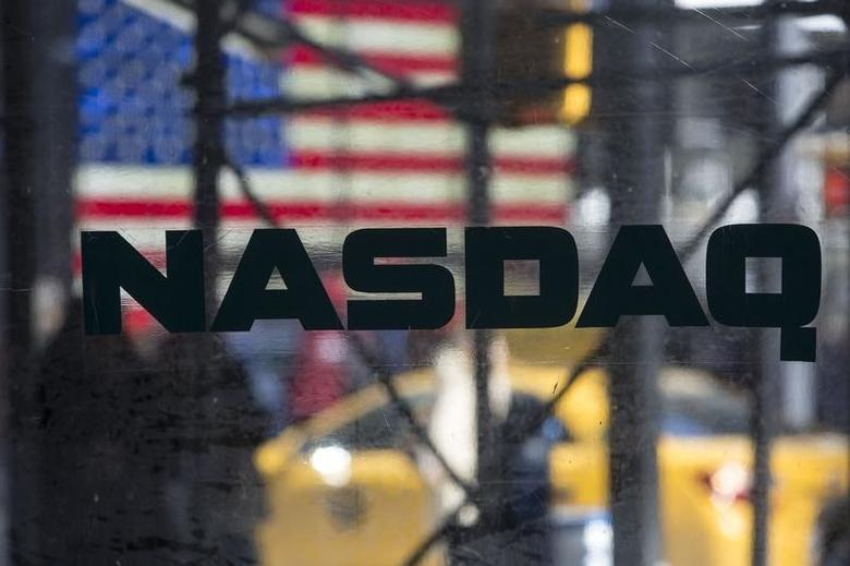 The NASDAQ MarketSite in Times Square in New York April 17, 2014. REUTERS/Andrew Kelly