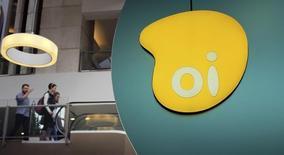 Logo da companhia telefônica Oi dentro de um shopping em São Paulo. 14/11/2014. REUTERS/Nacho Doce