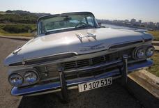 A 1959 Chevrolet Impala car is parked in Havana December 23, 2014.     REUTERS/Enrique De La Osa
