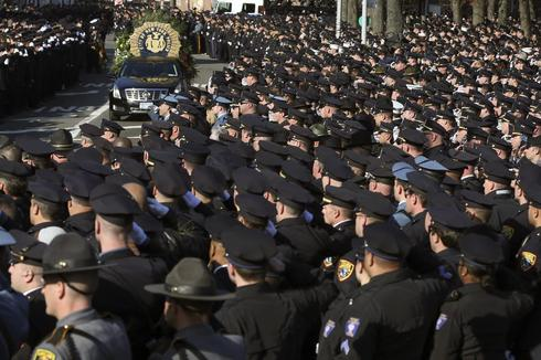 Funeral for NYPD officer