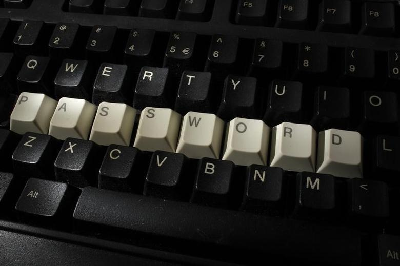 A computer keyboard with letters stacked forming the word 'password'  is seen in this illustration picture taken in Warsaw, December 12, 2013.  REUTERS/Kacper Pempel