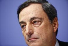 Presidente do Banco Central Europeu, Mario Draghi. REUTERS/Kai Pfaffenbach (GERMANY  - Tags: BUSINESS HEADSHOT)