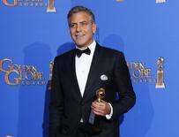 Ator George Clooney, que ganhou o Globo de Ouro. 11/1/2015   REUTERS/Mike Blake