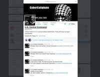 Imagem da tela de um computador mostra a conta no Twitter do Comando Militar dos EUA, que foi invadida por hackers nesta segunda-feira. 12/01/2015 REUTERS/Staff
