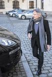 Diretor Roman Polanski deixa entrevista de imprensa em Cracóvia  15/01/ 2015.  REUTERS/Michal Lepecki/Agencja Gazeta