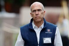 Jeffrey Katzenberg, CEO of DreamWorks Animation, arrives at the annual Allen and Co. conference at the Sun Valley, Idaho Resort July 11, 2013.  REUTERS/Rick Wilking