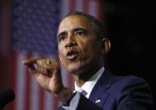 O presidente dos Estados Unidos, Barack Obama, participa de um evento na faculdade de Pellissippi, em Knoxville, no Tennessee, no início de janeiro. 09/01/2015 REUTERS/Kevin Lamarque