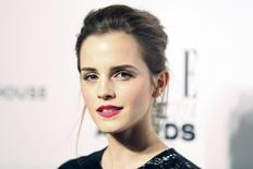 Actress Emma Watson arrives at the Elle Style Awards in London, February 18, 2014. REUTERS/Paul Hackett