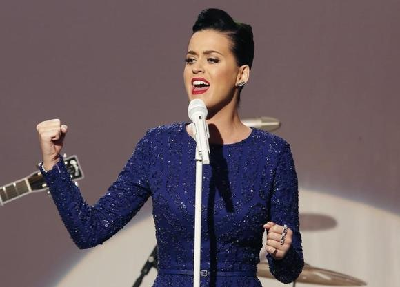 Singer Katy Perry performs at a concert commemorating the Special Olympics at the White House in Washington, July 31, 2014. REUTERS/Yuri Gripas