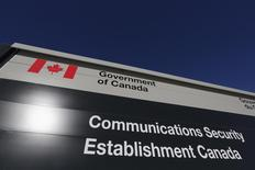 A sign is pictured outside the Communications Security Establishment (CSE) headquarters in Ottawa January 28, 2015. REUTERS/Chris Wattie