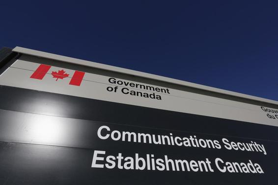 A sign is pictured outside the Communications Security Establishment (CSE) headquarters in Ottawa January 28, 2015. REUTERS-Chris Wattie
