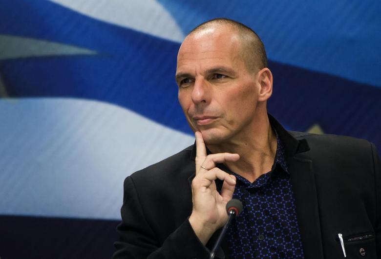 Newly appointed Greek Finance Minister Yanis Varoufakis attends a hand over ceremony in Athens, January 28, 2015. REUTERS/Marko Djurica