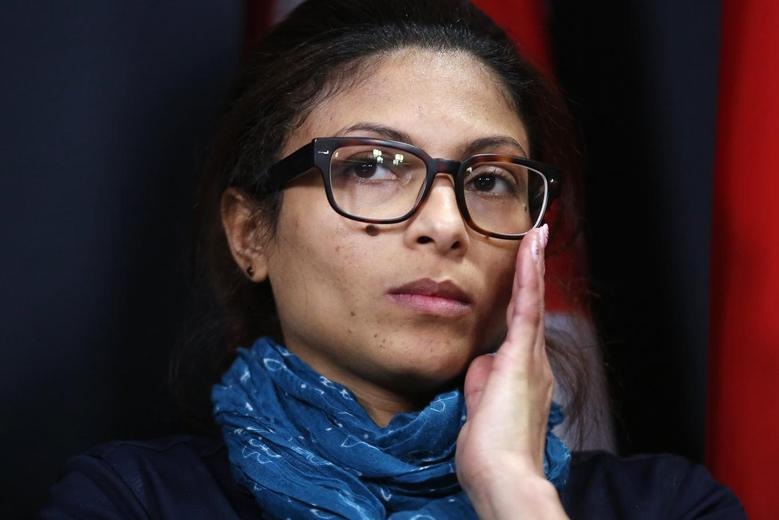 Ensaf Haidar takes part in a news conference calling for the release of her husband, Raif Badawi, in Ottawa January 29, 2015. The wife of a Saudi rights activist, who was sentenced to 1,000 lashes last year, said her husband's health had worsened after the first round of flogging and that he could not possibly survive the full punishment. REUTERS/Chris Wattie