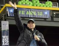 Jan 31, 2015; Phoenix, AZ, USA; Seattle Seahawks owner Paul Allen at the Seattle Seahawks 12Fest fan rally in the Desert at Chase Field prior to Super Bowl XLIX.  Kirby Lee-USA TODAY Sports