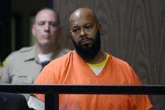 Rap mogul Suge Knight stands in court during his arraignment on murder charges at the Compton Courthouse in Compton, California February 3, 2015.  REUTERS/Paul Buck