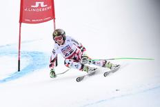 Anna Fenninger of Austria in the women's Super G in the FIS alpine skiing world championships at Raptor Racecourse. Mandatory Credit: Eric Bolte-USA TODAY Sports