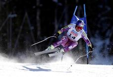 Feb 5, 2015; Beaver Creek, CO, USA; Aksel Lund Svindal of Norway during the men's Super G in the FIS alpine skiing world championships at Birds of Prey Racecourse. Mandatory Credit: Erich Schlegel-USA TODAY Sports