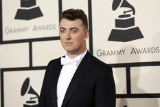 Singer Sam Smith arrives at the 57th annual Grammy Awards in Los Angeles, California February 8, 2015.  REUTERS/Mario Anzuoni