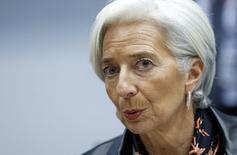 Chefe do FMI, Christine  Lagarde, durante reunião em Bruxelas. 11/2/2015  REUTERS/Francois Lenoir