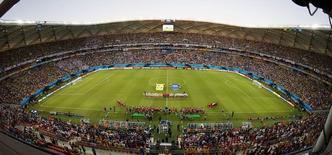 Partida entre Itália e Inglaterra na Arena Amazônia durante a Copa do Mundo de 2014. 14/06/2014 REUTERS/Andres Stapff