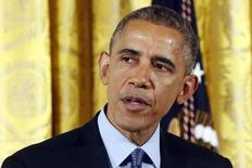 Presidente dos EUA Barack Obama, na Casa Branca, em Washington. 12/02/2015    REUTERS/Jonathan Ernst