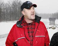 Bradley Birkenfeld makes remarks before surrendering to authorities at the Schuylkill County Federal Correctional Institution in Minersville, Pennsylvania, January 8, 2010. REUTERS/Tim Shaffer