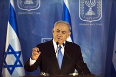 Benjamin Netanyahu, Primeiro Ministro de Israel, durante cerimônia em Jerusalém.  16/02/2015  REUTERS/Ronen Zvulun