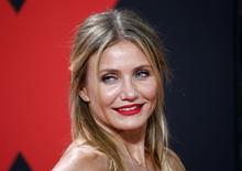 "Cast member Cameron Diaz poses on the red carpet to promote the movie ""Sex Tape"" in Berlin September 5, 2014.REUTERS/Fabrizio Bensch"