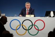 International Olympic Committee (IOC) President Thomas Bach attends the opening of the 127th IOC session in Monaco December 8, 2014.  REUTERS/Eric Gaillard