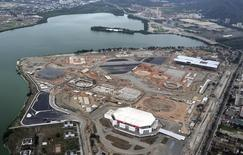 The construction site of the Rio 2016 Olympic Park is pictured from above in Rio de Janeiro November 11, 2014.  REUTERS/Andre Durao
