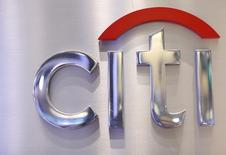 A Citi sign is seen at the Citigroup stall on the floor of the New York Stock Exchange, October 16, 2012. REUTERS/Brendan McDermid/Files